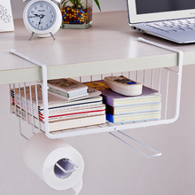Under Shelf Basket Wire Wrap Rack Storage Organizer for Kitchen Bathroom Pantry Over Door Cabinet Drawers