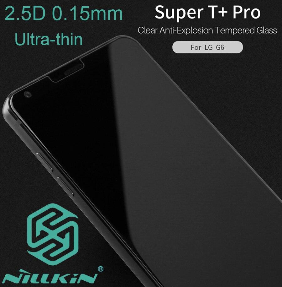 bilder für Nillkin super t + pro 2.5d gehärtetem glas für lg g6 ultradünne 0,15mm