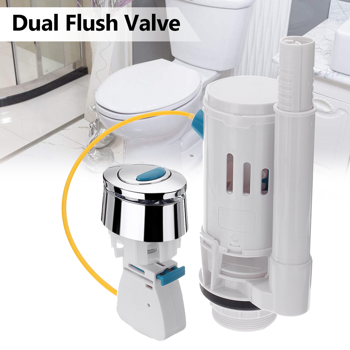 Universal Cable Seats Toilet Connected Water Tank Dual Flush Fill Drain Valve Flush Push Button WC Water Tank 27cm WC Accesorios