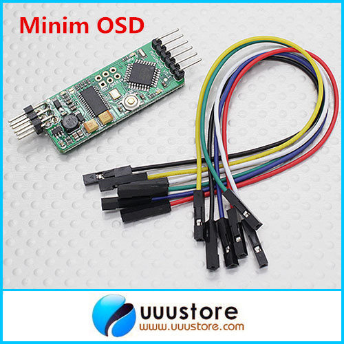 APM Minim OSD V1.1 + Black CNC Processed Shell Case Protector Case minimosd on screen display osd board apm telemetry to apm 1 and apm 2