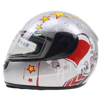 Child helmet DOT approved kid full face motorbike helmet size 48-52cm fits 3-14 years old Children winter helmet with neck cover
