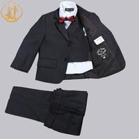 Nimble Boys Suits For wedding Solid Black School Set single breasted Baby Boy Clothes jogging garcon jacket for boy kids blazer