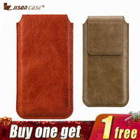 Jisoncase Pouch Bag for iPhone 6 6s Case Genuine Leather Luxury Coque Magnetic Cover for iPhone 6 6s 4.7 Phone Bags Cases Sleeve