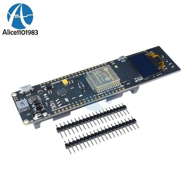 US $10 21 8% OFF|ESP32 ESP8266 0 96 inch OLED Display WiFi Bluetooth Module  18650 Lithium Battery Shield Development Board CP2102 Module DIY-in