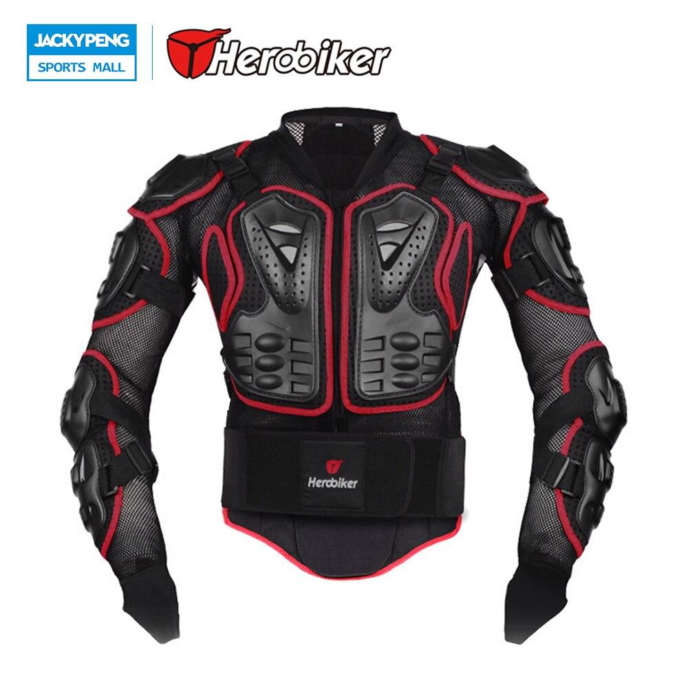 Herobiker moto équitation Protection du corps Motocross pleine colonne vertébrale poitrine veste de Protection Gear dos soutien gardes