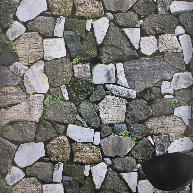 Modern fashion art 3d stereoscopic stone wall paper mural for 3d stone wallpaper for living room