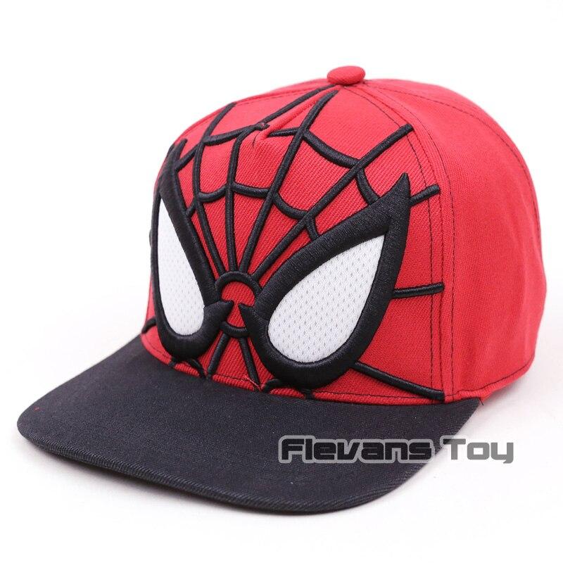 Spiderman algodón gorras de verano Cartoon Snapback sombrero ajustable  hombres muchacho del hip-hop del e79bc90b146