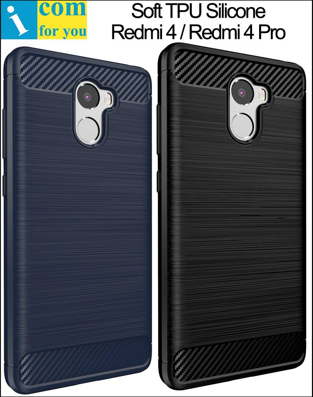 Цена за 10 Шт./лот Viseaon Силиконовые ТПУ Чехол Для Xiaomi Redmi 4 Pro Простые 5.0 дюймов Redmi4 5 дюймов углеродного волокна Матовый