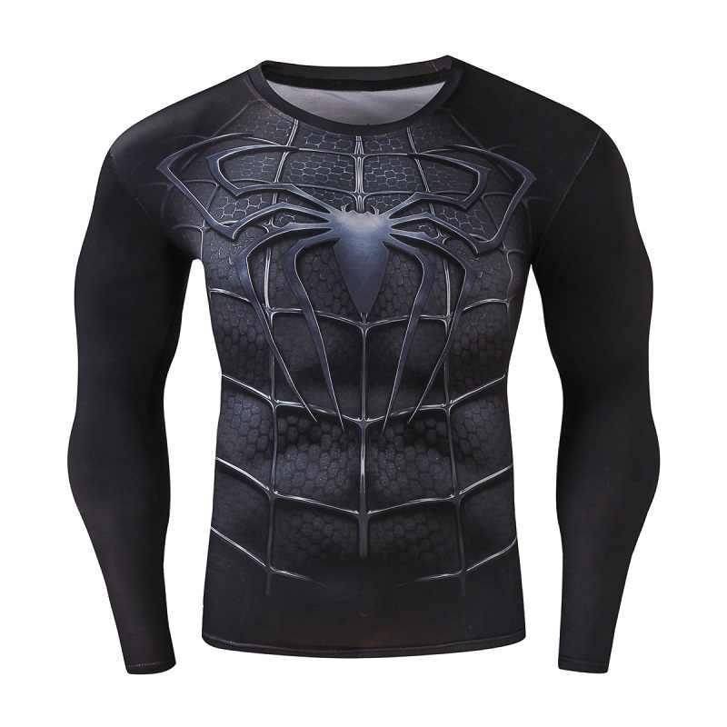 Compressie Shirt Workout Training Fitness Mannen Cosplay Rashgard Plus Size Bodybuilding T-shirt 3D Gedrukt Sport Tops Voor Mannelijke