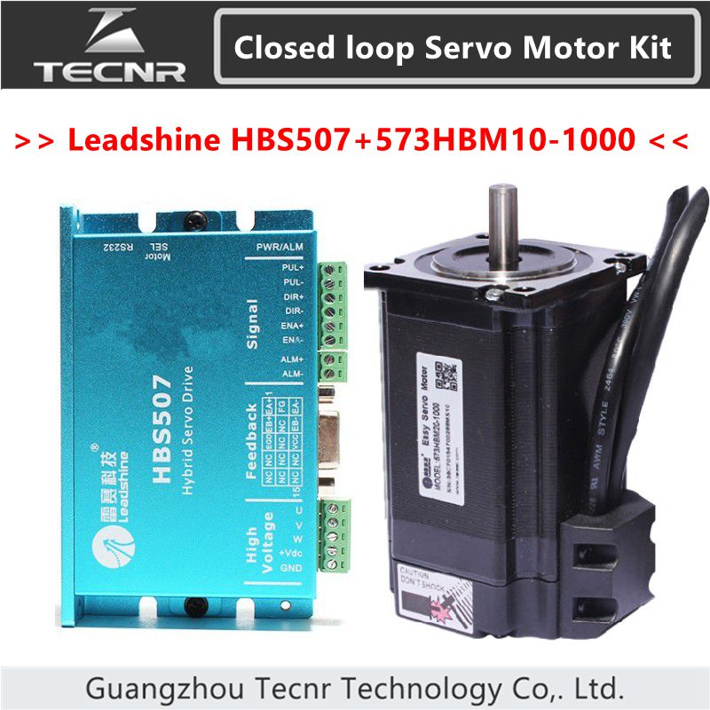 Leadshine nema23 2NM Closed loop Hybrid servo driver kit HBS507 and 573HBM10-1000  stepping motor drive 57mm 100w new leadshine closed loop system a servo drive hbs507 and 3 phase servo motor 573hbm10 1000 with a cable a set cnc part