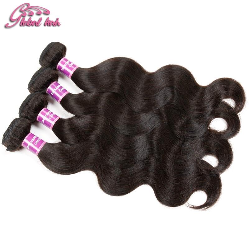 GLUNA Hair Brazilian Human Hairpieces 3 Pcs Lot Brazilian Body Wave Cheap Wavy Human Hair Weave