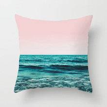 Fuwatacchi Ocean Beach Printed Cushion Cover Starfish Tropical Plant Pillow Cover Decorative Pillow Case for Home Sofa Chair Car fuwatacchi leaf geometry wedding throw pillow cover tropical plant cushion cover for car home chair decoration pillow case 2019