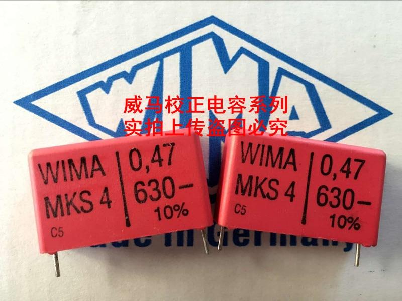2019 hot sale 10pcs/20pcs Germany WIMA MKS4 630V 0.47UF 630V 474 470N P: 27.5mm Audio capacitor free shipping2019 hot sale 10pcs/20pcs Germany WIMA MKS4 630V 0.47UF 630V 474 470N P: 27.5mm Audio capacitor free shipping