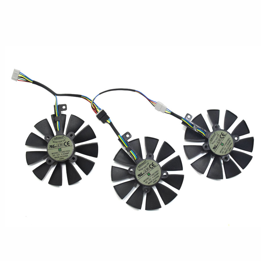 US $20 7 42% OFF|87MM T129215SU Cooling Fan For ASUS STRIX R9 390X/R9 390  RX580 8G Gaming GTX 1070TI GTX1080TI Gaming Graphics Card Cooler Fans-in