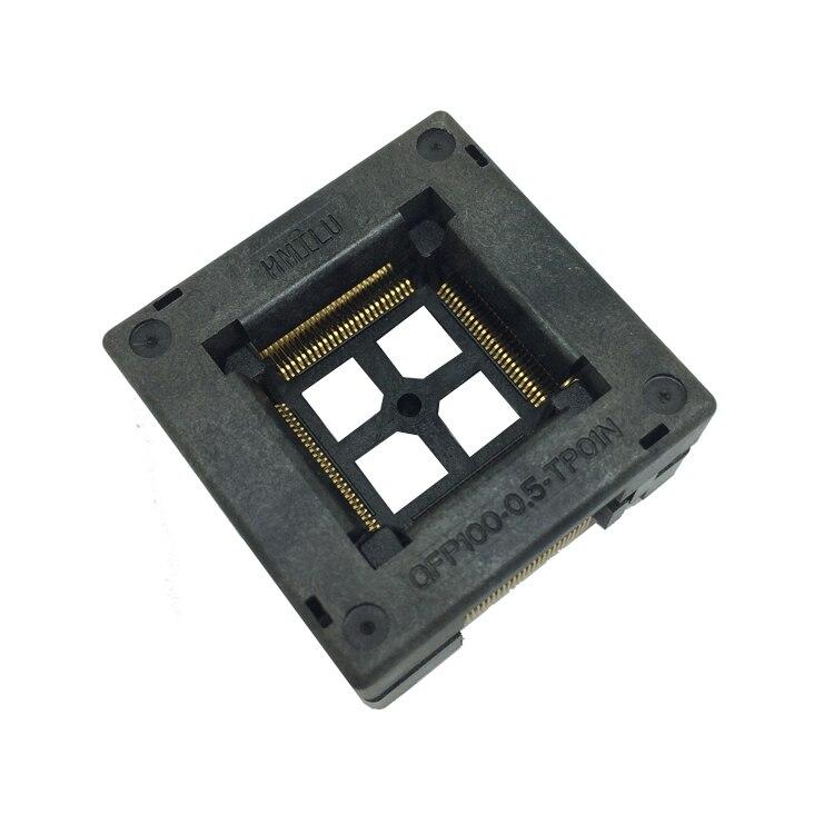 Image 4 - Tqfp100 fqfp100 lqfp100 soquete superior aberto OTQ 100 0.5 09  pinos passo 0.5mm ic tamanho do corpo 14x14mm queimar no adaptador de  testeburn