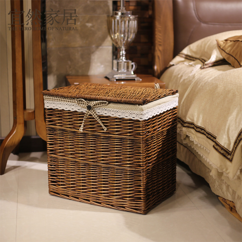 Charmant King Ran Home Should Rattan Laundry Basket Of Clothes Covered Clothes  Holding Baskets Finishing Drawer Storage Box IKEA In Storage Baskets From  Home ...
