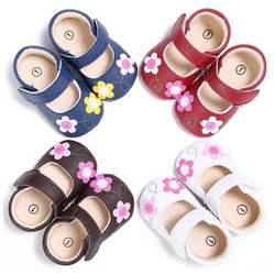 Детские из искусственной кожи FlowersShoes мягкие дышащие первые ходунки анти-Мокасины детская обувь для девочек