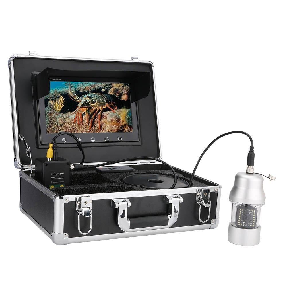 MAOTEWANG, 9 дюймов, 50 м, 100 м, подводная рыболовная видеокамера, рыболокатор, IP68, водонепроницаемая, 38 светодиодов, вращающаяся на 360 градусов камера