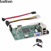 GADINAN 1080P 4CH Security Network Recorder Board DIY NVR 4CH 1080P/ 8CH 960P HDMI ONVIF Email Alert Motion Detection with Power