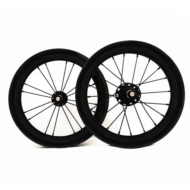Sema 14 Inch 254 Carbon Clincher Wheelset 930g Novatec 711 712