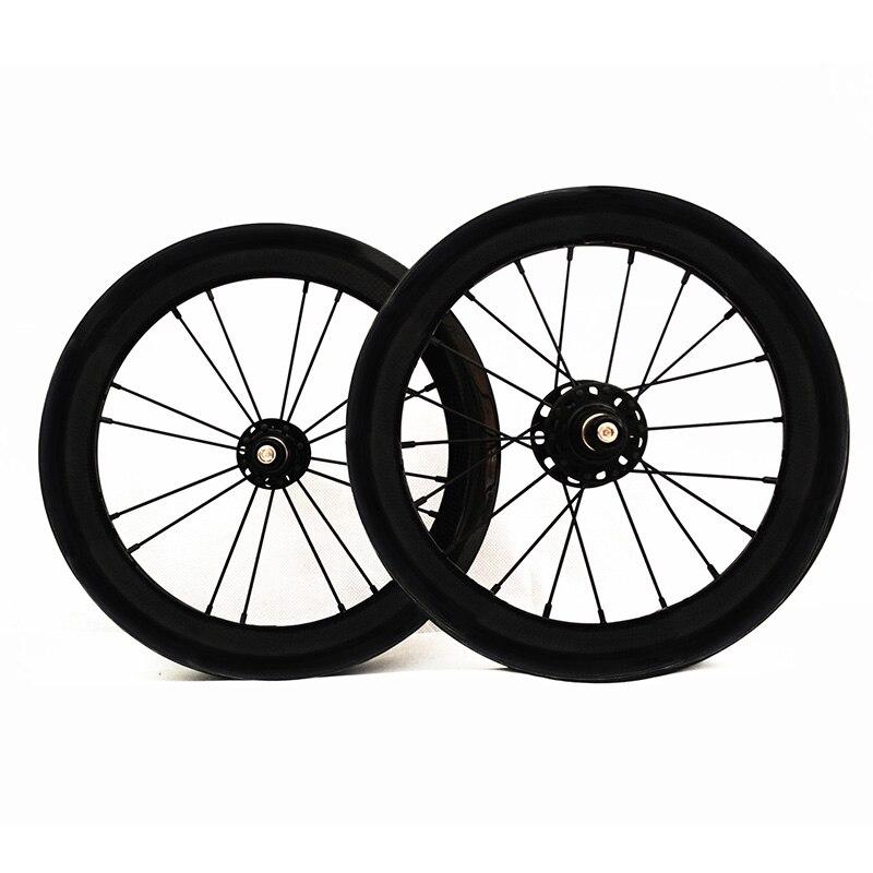 SEMA 14 pouces 254 carbone pneu roues 930g Novatec 711/712 vélo-pièces roue pour Litepro 74 85 jante vélo garantie à vie