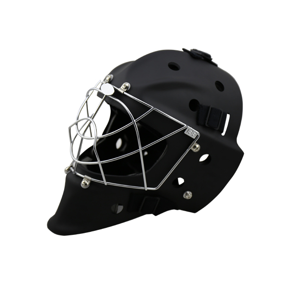 Black Floorball Protective PE Foam Liner Streetball Helmet With Cage