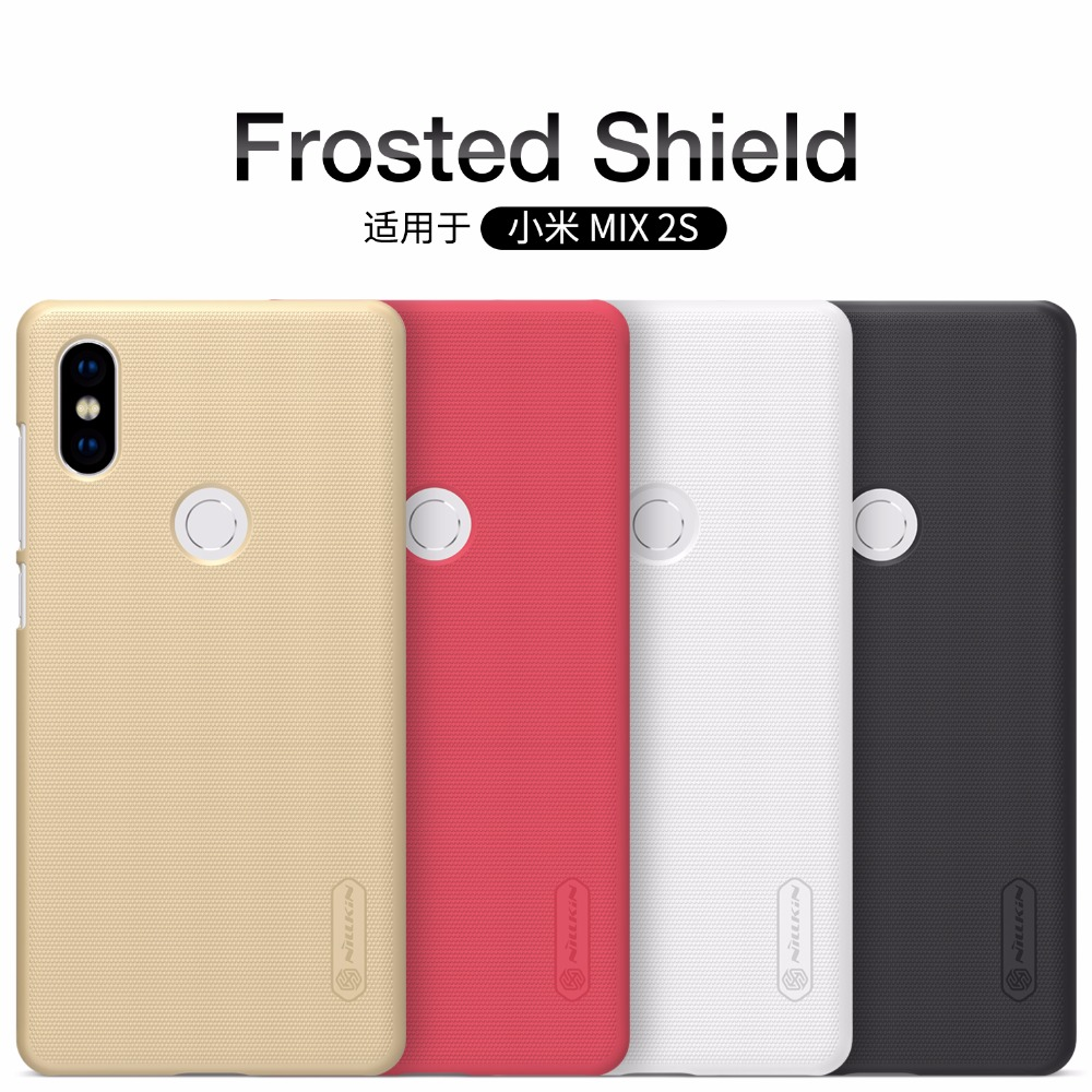 Xiaomi Mi Mix 2S case NILLKIN Super Frosted Shield Matte back cover case For Xiaomi Mi Mix 2S +free screen protector