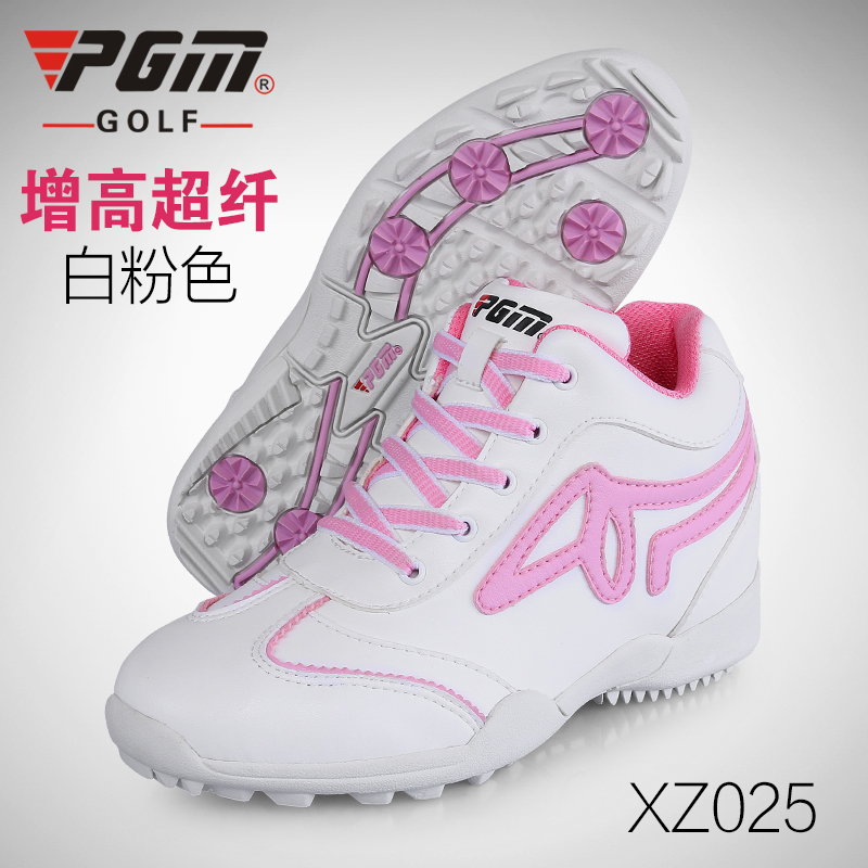 2018 New Brand PGM Golf Womens Sports Shoes Increased 3cm Ladies High Waterproof Shoes Cycling Badminton Breathable Large size