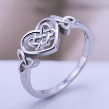 Huitan Classic Irregular Winding Heart Ring Band Silver Plated Simple Love For Girlfriend Wholesale Lots&Bulk With Size6-10