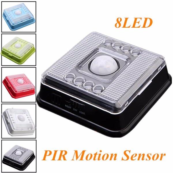 8 LED Motion Sensor Light Wireless Infrared Home Indoor Outdoor PIR Auto Sensor Motion Detector LED Night Light Lamp l806 infrared sensor light silver