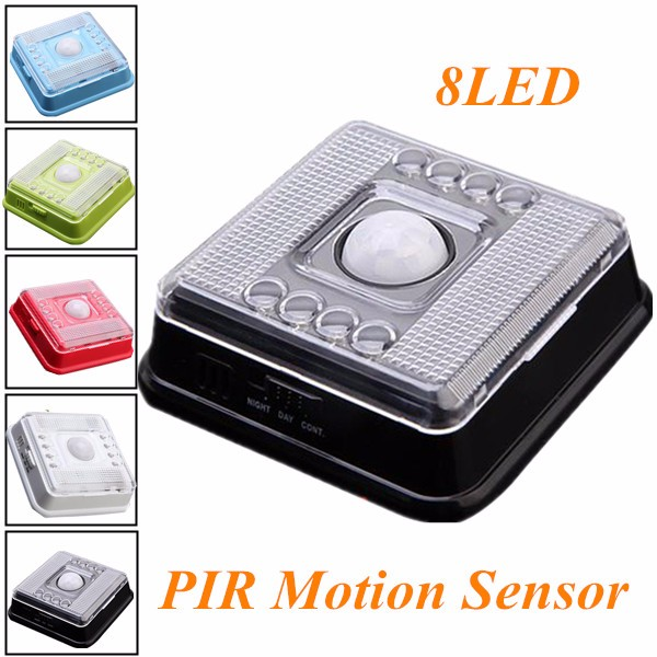 8 LED Motion Sensor Night Light Wireless Infrared Home Indoor Outdoor PIR Auto Sensor Motion Detector LED Night Light Lamp