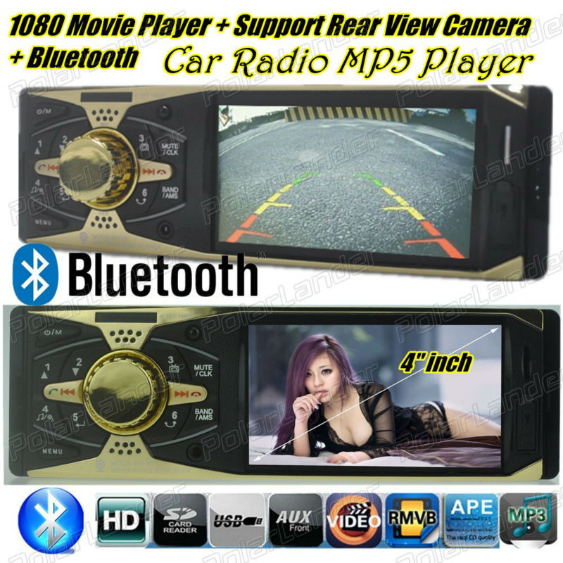 new 4 inch TFT HD Screen Car Mp5 Audio Support Rear Camera SD/USB Car radio MP3  MP4 MP5 Player with Bluetooth  car Audio Video 2015 new support rear camera car stereo mp3 mp4 player 12v car audio video mp5 bluetooth hands free usb tft mmc remote control