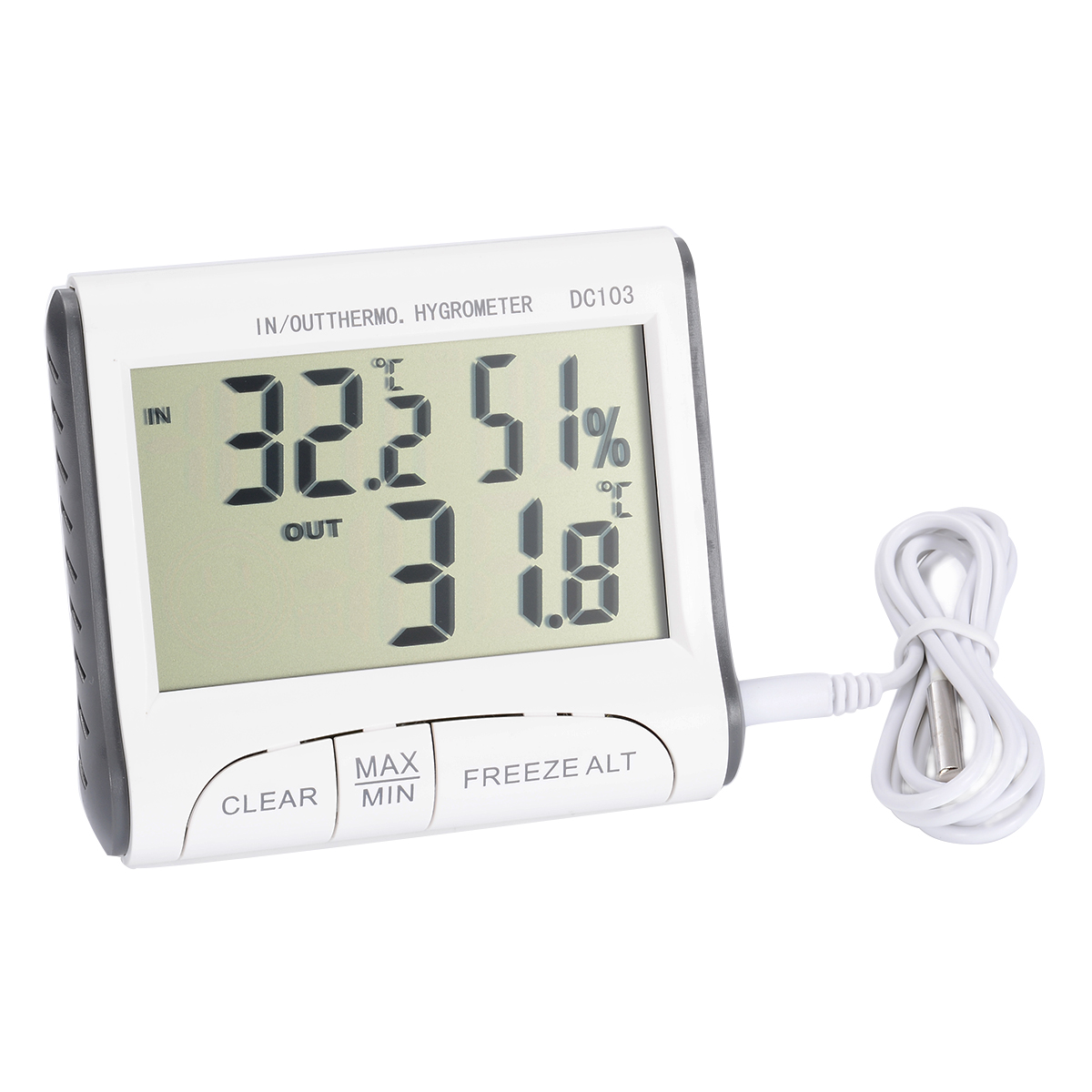 2019 New 1pc Digital Wireless Indoor Outdoor Thermo-Hygrometer Thermometer Humidity Meter