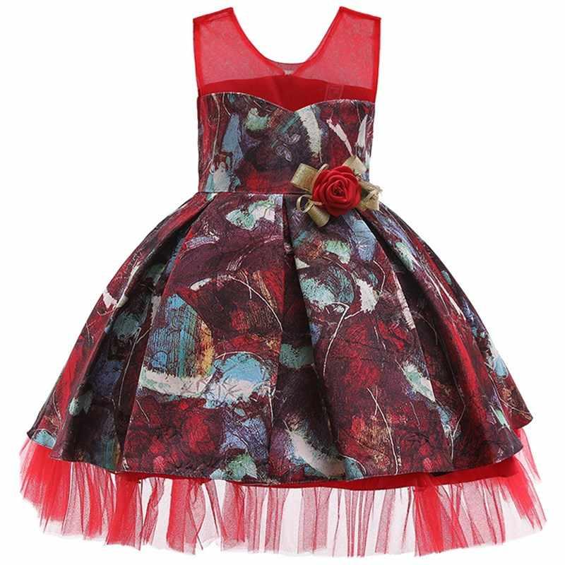 2019 Vestido De Princesa De Fiesta De Verano Para Niña Ropa De Boda Vestidos Para Niñas Vestido Tutú De Dama De Honor Elegante 10 12 Años