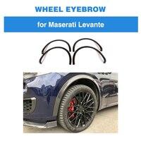 Колесо из углеродного волокна арка для Maserati Levante 2017 2018 База Спорт S Спорт 4 крыло двери вспышки бровей колеса протектор Брызговики для автомо