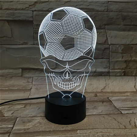 World <font><b>Cup</b></font> Soccer <font><b>Small</b></font> Desk Lamp Creative 3 d face football <font><b>small</b></font> night <font><b>light</b></font> gradient LED visual <font><b>light</b></font> acrylic gift lamp <font><b>light</b></font>