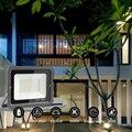 Светодиодный прожектор  Солнечный Прожектор  квадратный 50 Вт  220 В  светодиодный прожектор  наружные лампы  освещение для сада  светодиодный ...