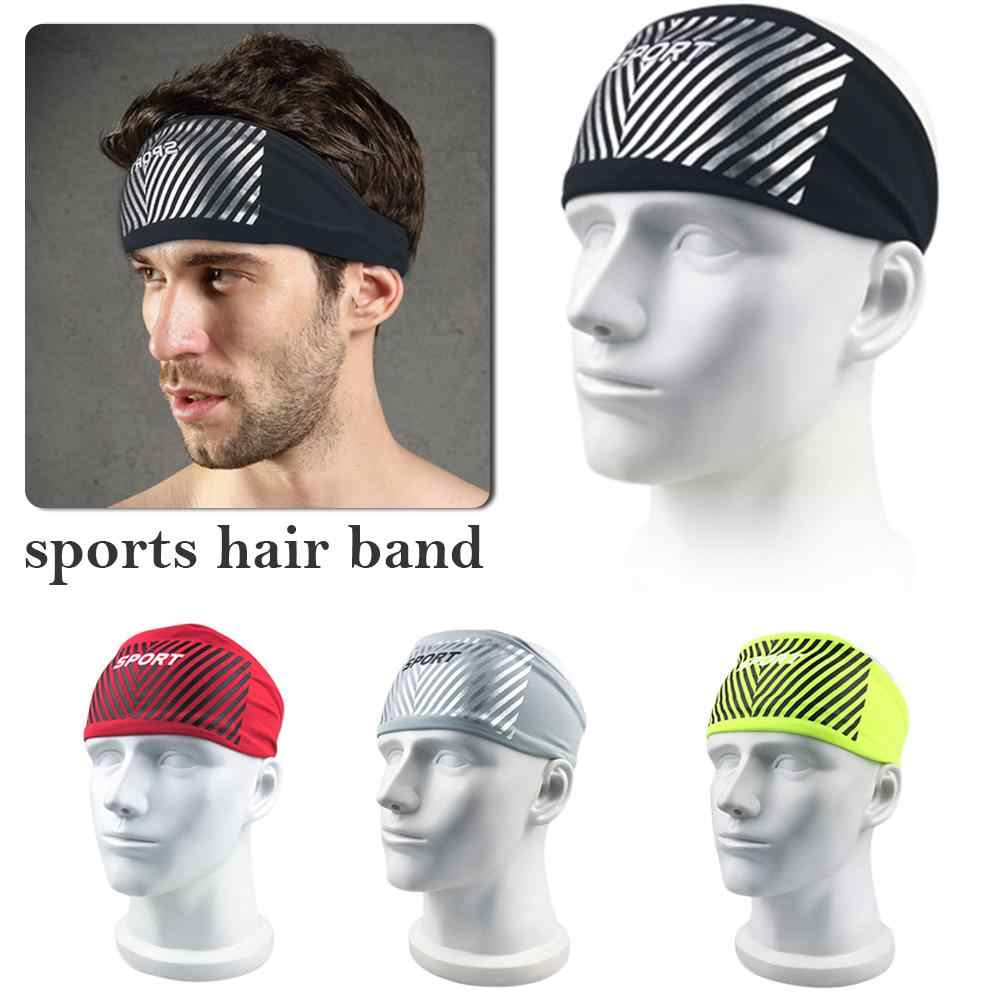 8df5b875d061 Elastic Sport Headband Fitness Yoga Sweatband Outdoor Gym Running Tennis  Basketball Wide Hair Bands For Athletic