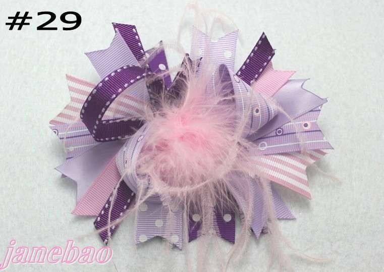 1000 шт., модный бутик для девочек, банты для волос, перья, банты, популярные заколки для волос для девочек