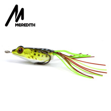 MEREDITH 4.5g 4cm Lures Frog Fishing Floating Topwater  Fishing Frog Lures Soft Baits For Snakehead Bass