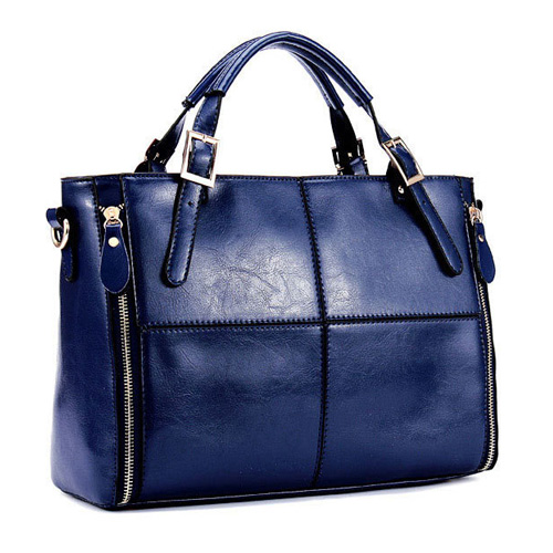 2018 New Fashion Patchwork PU Leather Women Handbag 5 Color Ladies Office Shoulder Bags Messenger Bags High Quality