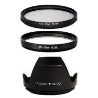 67mm UV Filter Lens Hood CPL Filter For Sony For Canon EOS 700D For Nikon D7000