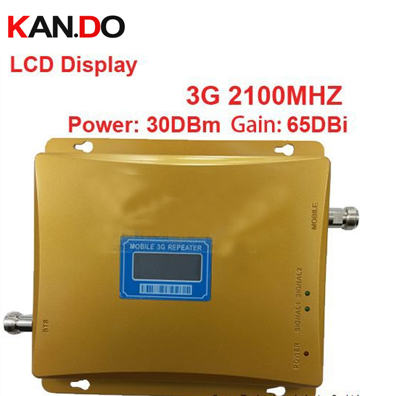 2014 New Model 980 Power 30 Dbm Gain 65dbi LCD Display 3G 2100mhz Mobile Phone Signal Booster Repeater 3G WCDMA Booster Repeater
