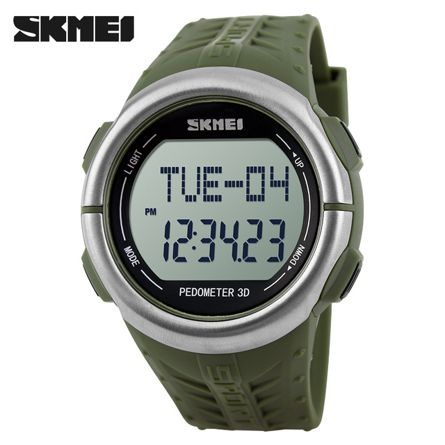 SKMEI 1058 Men Sport Watch Pedometer Digital Watches Heart Rate Monitor Calories Counter Wristwatch New Colors Relogio Masculino