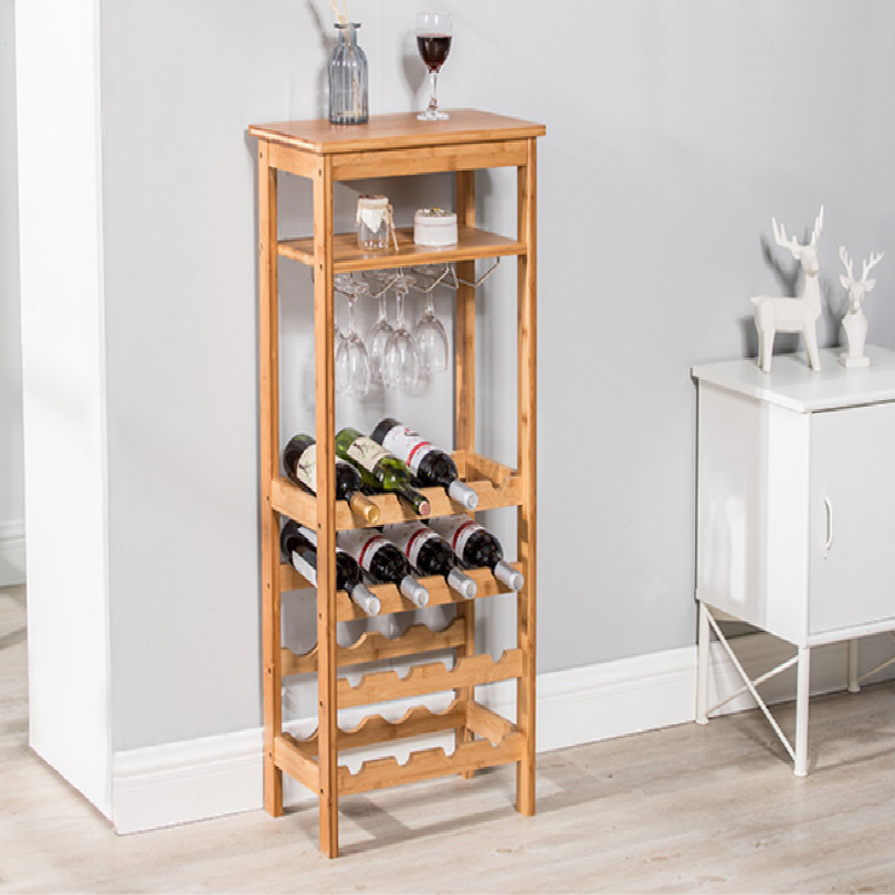 Wood Loft Shelf Bar Cabinet Wine Cabinet Display Cabinet With Cup Holder Free Shipping