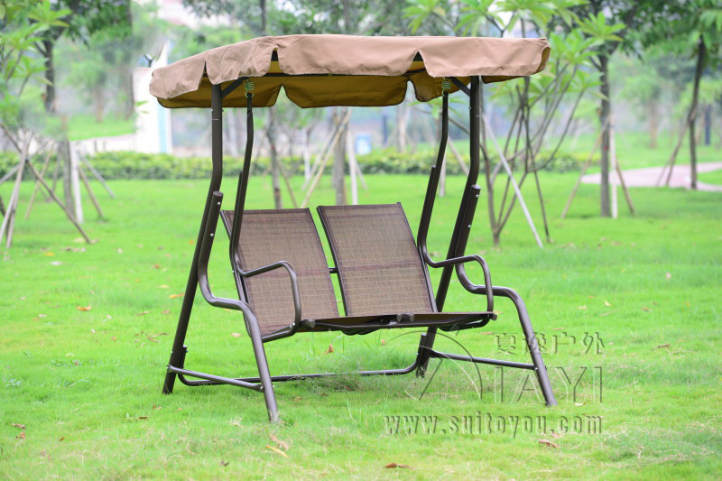 Love seater patio garden swing chair hammock outdoor sling cover bench with canopy for adults patio leisure luxury durable iron garden swing chair outdoor sleeping bed hammock with gauze and canopy