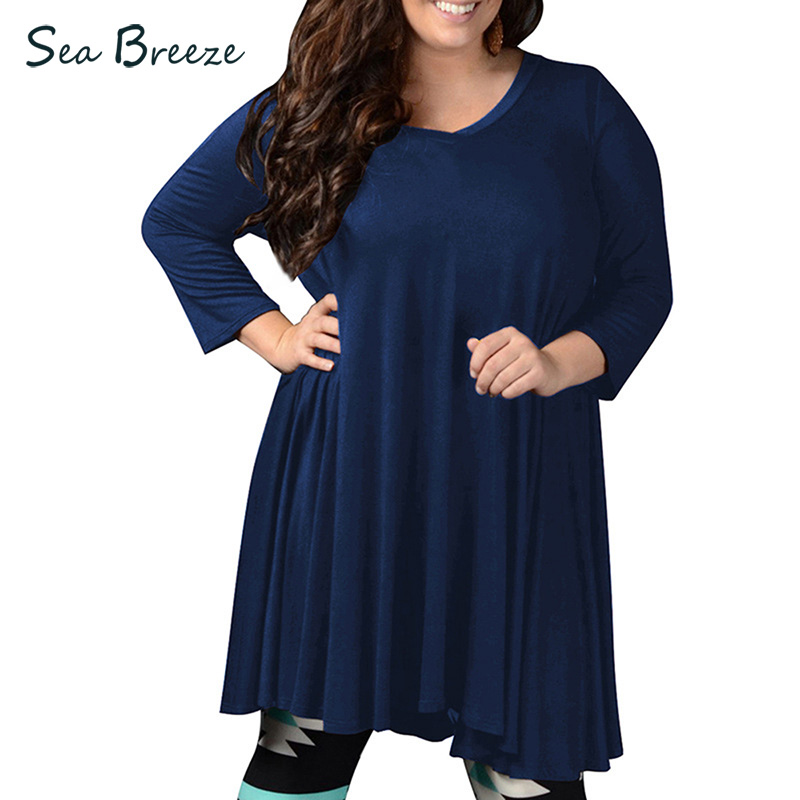Sea Breeze Brand Autumn New Women Plus Size V Neck Wrist