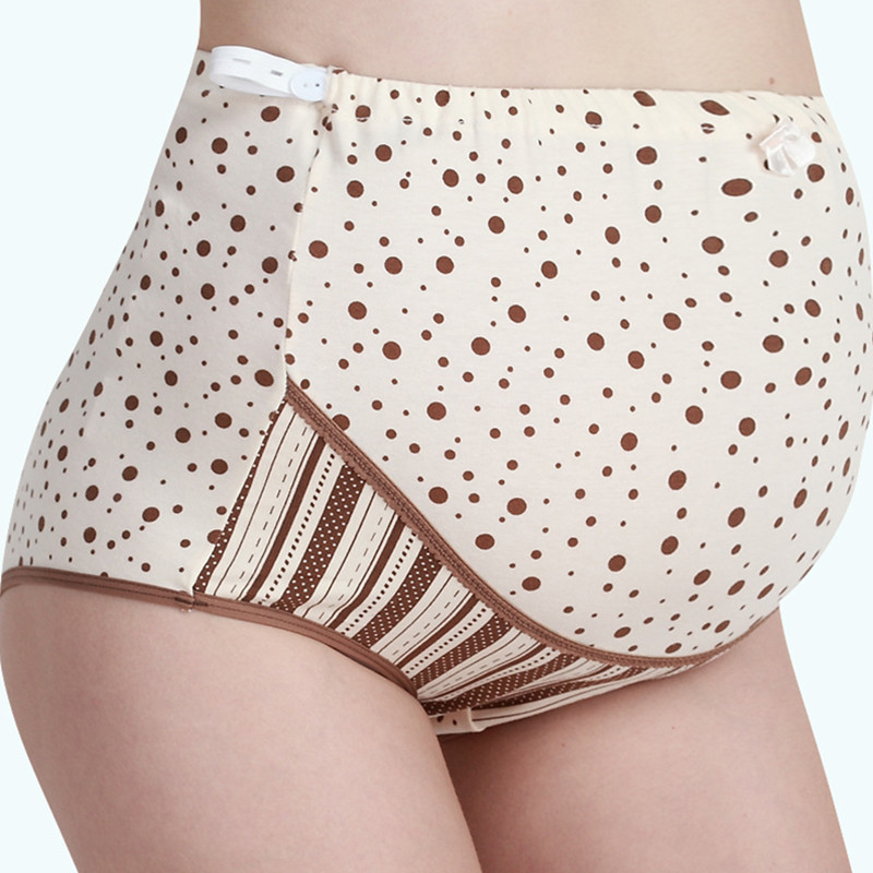 Maternity Underwear Pants Stomach Lift Maternity Dress Cotton Pregnant Women Underwear Adjustable High Waist Pants FF307