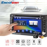 Universal 6 2 Car Radio DVD Player 2Din Stereo GPS Navigation HD Touch Screen Bluetooth FM