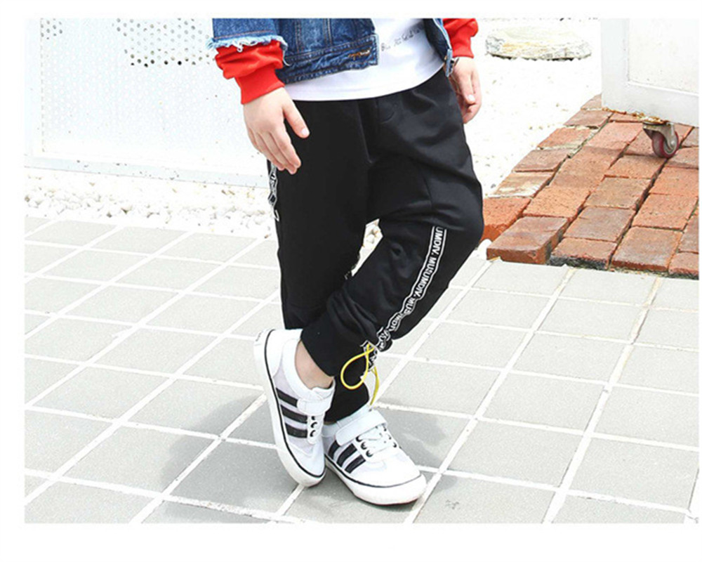 цены Children Boys Harem Pants New Fashion Kids Boy Loose Black Trousers Tide Hip-hop Street Dance Pants Size 110-160 cm